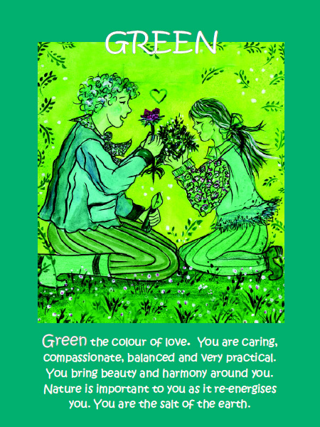 Personality color green Personality Color